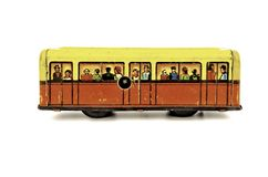 Side wiev to the subway wagon Royalty Free Stock Photo