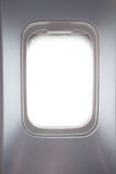 Side window in airplane Stock Photography