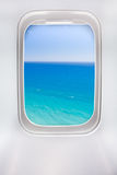 Side window of airplane Royalty Free Stock Photography