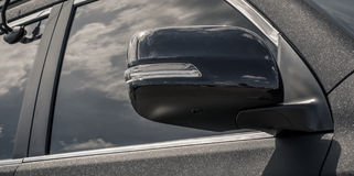 Side window of the car Stock Photos