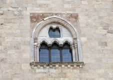 Side window Castel Del Monte in Andria in southeast Italy Royalty Free Stock Image