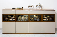Sideboard with silver reindeers Royalty Free Stock Photo