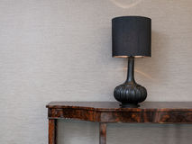 Sideboard with table lamp Royalty Free Stock Image