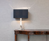 Sideboard with table lamp Royalty Free Stock Photo