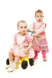 sidecar езды малышей стоковое фото