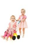 sidecar езды малышей стоковая фотография rf