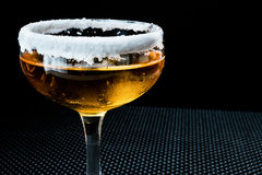 Sidecar Cocktail with a sugar rim. Royalty Free Stock Image