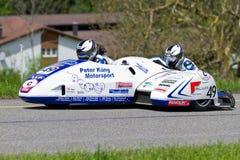 Sidecar della macchina da corsa LCR Suzuki F1 dell'annata a partire da 1995 Fotografie Stock