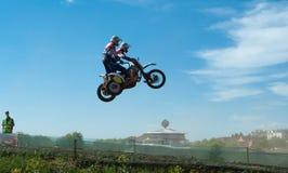 Sidecar motocross Stock Foto's