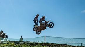 Sidecar motocross Royalty-vrije Stock Afbeeldingen