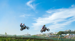 Sidecar motocross Royalty Free Stock Images