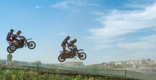 Sidecar motocross Royalty Free Stock Photography
