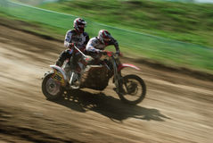 Sidecar motocross Stock Images