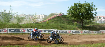 Sidecar motocross Royalty Free Stock Image