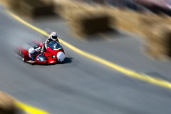 Sidecar motorcycle racing Royalty Free Stock Image