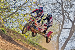 Sidecar MX jump Stock Photography