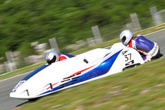 Sidecar racers Stock Image