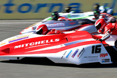 Sidecar racers Royalty Free Stock Image