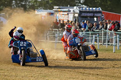 Sidecar racers Royalty Free Stock Images