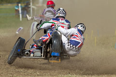 Sidecar racing Royalty Free Stock Image