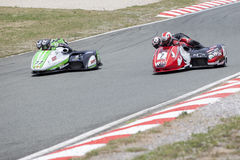 Sidecar1. Sidecar world championship at Grobnik in Croatia 15.6.2014 Royalty Free Stock Photos