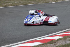Sidecar 2. Sidecar world championship at Grobnik in Croatia 15.6.2014 Stock Photography