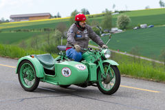 Sidecarmotorbike Zuendapp KS 600 från 194 Royaltyfri Fotografi