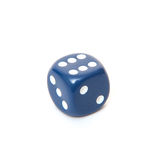 6-sided dice. All on white background Stock Photos