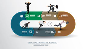 5 sided infographics background Stock Photography