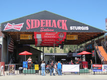 Sidehack Saloon, Sturgis, SD, during motorcycle rally. Homemade food is on the menu at the Sidekick Saloon in Sturgis, SD, during the 77th Annual Motorcycle Royalty Free Stock Photos