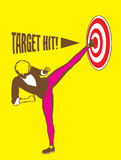 Sidekick Target Hit Goal Illustration. Congratulation, you have hit the target which you have set your sight on Royalty Free Stock Photos