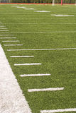 Sideline. Of an American football field Royalty Free Stock Image