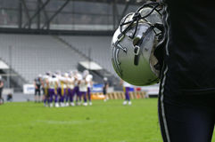 Sideline. Footballplayer on the sideline Royalty Free Stock Photos