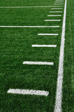 Sideline on American Football Field Royalty Free Stock Images