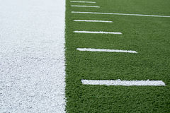 Sideline of Football field background Stock Images