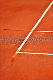 Sideline tennis clay court detail Royalty Free Stock Image