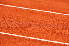 Sidelines detail on a tennis court Royalty Free Stock Image