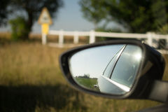 Sidemirror of a car Royalty Free Stock Photo
