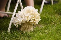 Siden- bröllopblommor Arkivfoto