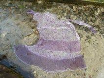 Siden- klänning för dans i klart vatten Royaltyfri Bild