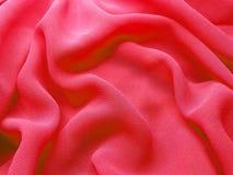Siden- materiella vågor för röd abstrakt bakgrund Arkivbilder