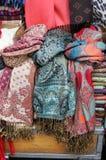 Siden- scarves Arkivfoto