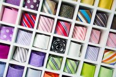 Siden- slipsar Arkivfoton