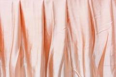 Siden- textur för rosa tyg för bakgrund Royaltyfria Foton