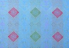 Siden- tyg i den thailändska modellen för bakgrund Royaltyfria Foton