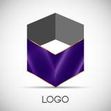 Siden- tyg - logo för begreppsdesign Fotografering för Bildbyråer