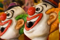 Sideshow clowns Royalty Free Stock Photography