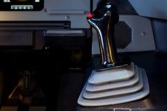 Sidestick de la mano derecha de Airbus A320 Foto de archivo libre de regalías