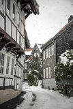 Sidestreet with half-timbered houses Royalty Free Stock Photos