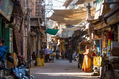A sidestreet in Jodhpur Stock Images